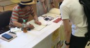 江口寿史先生によるサイン会の様子