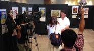 NHK 沖縄放送局の取材を受ける、弊会代表小川丈司