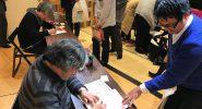 うえやま先生と倉田先生のサイン会